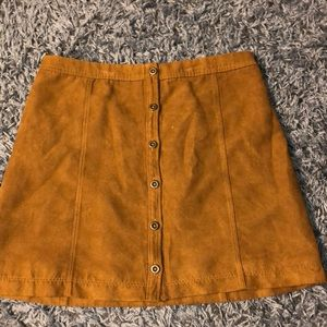 Brown suede skirt from hollister